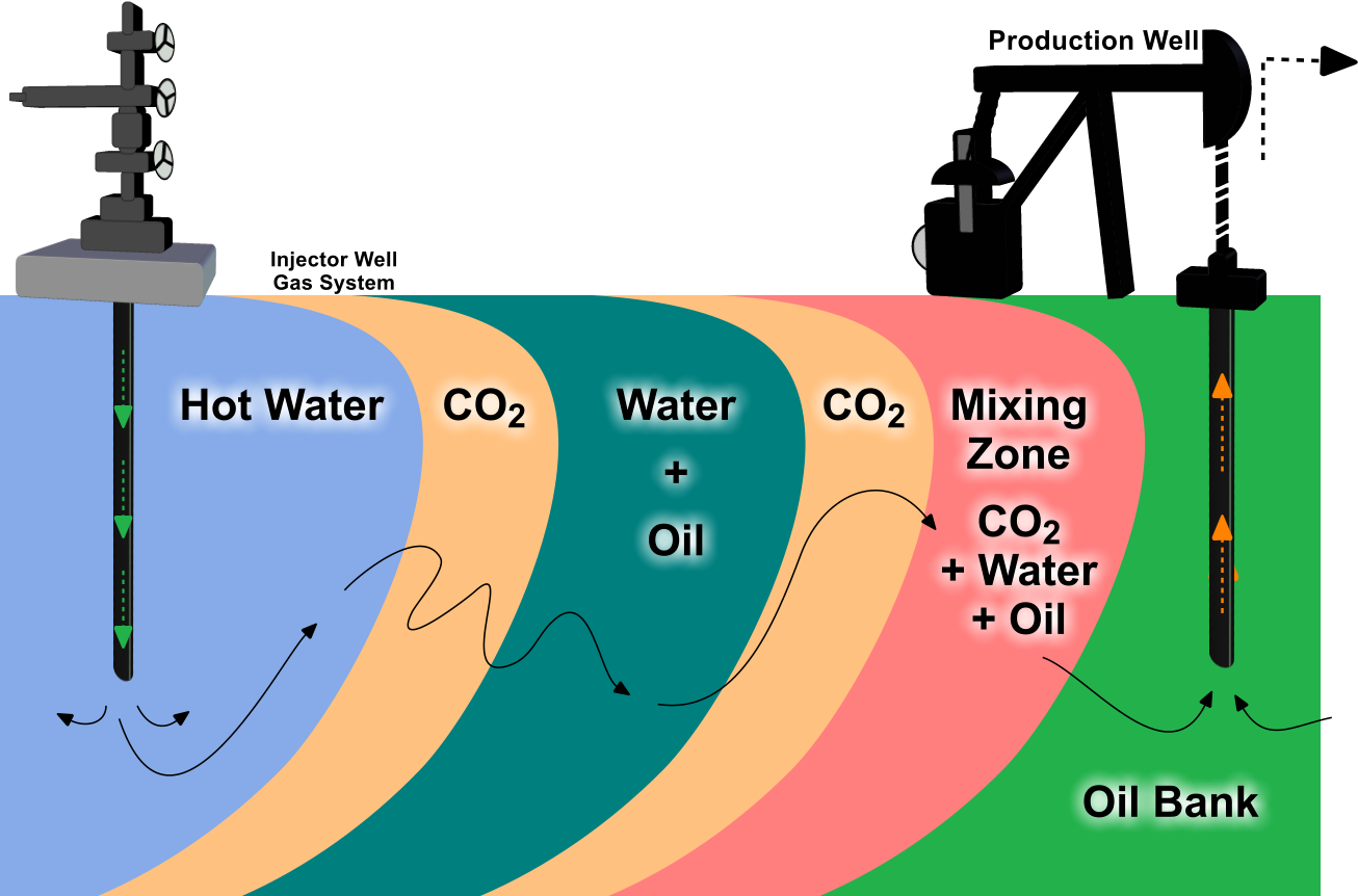 Enzyme enhanced oil recovery (EEOR) for water alternating